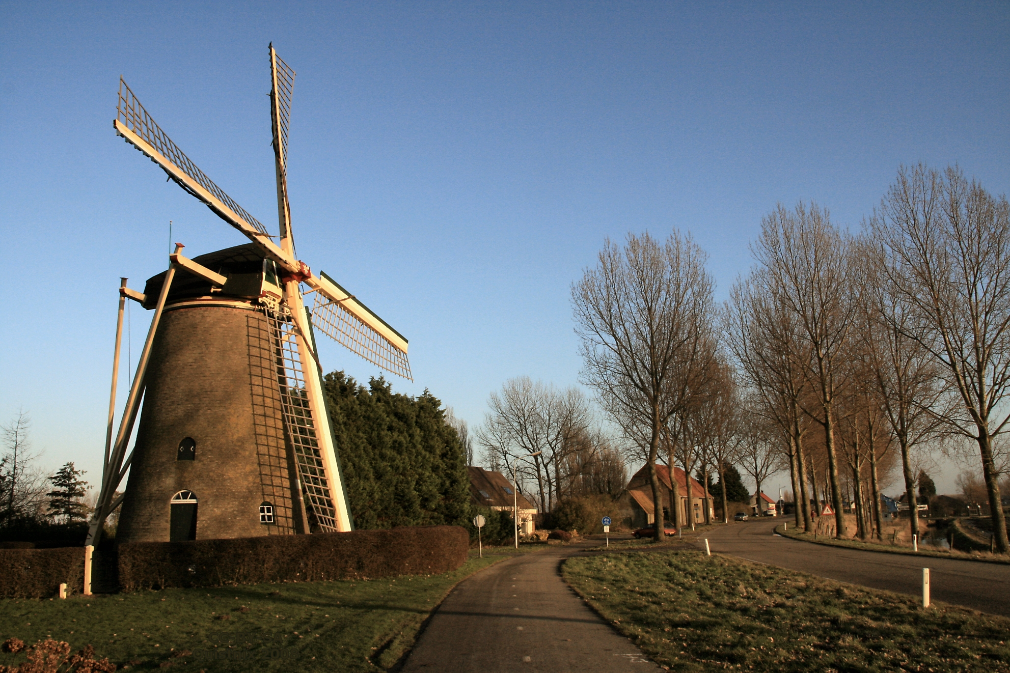 authentieke windmolen